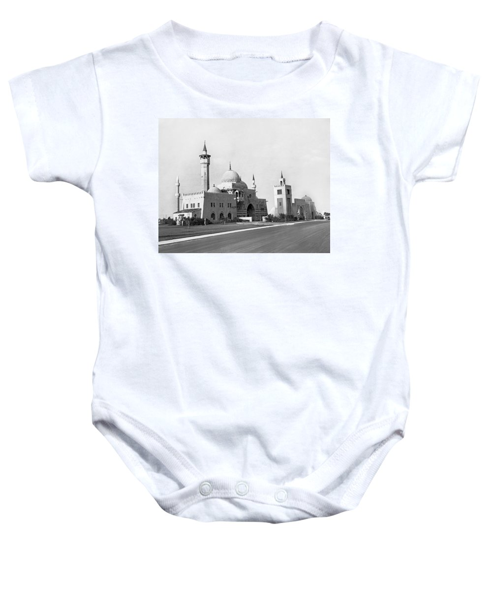 1931 Baby Onesie featuring the photograph The Opa Locka City Hall by Underwood & Underwood