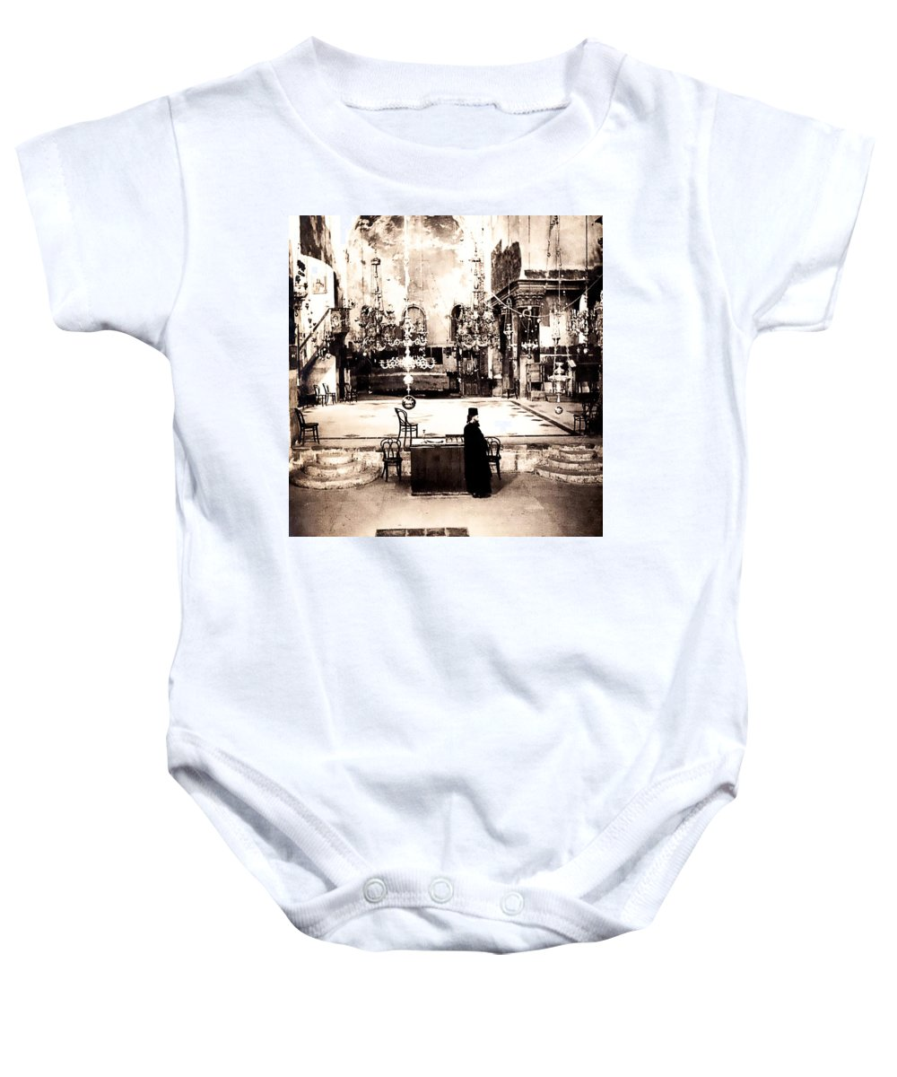 Vintage Baby Onesie featuring the photograph The Priest by Image Takers Photography LLC