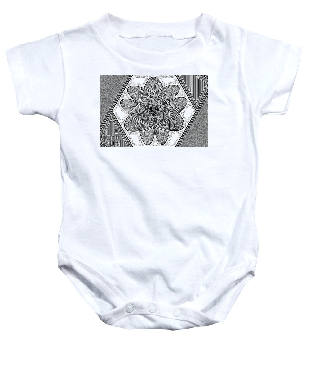 Abstract Baby Onesie featuring the digital art The Rh Molecule by Paul Gioacchini