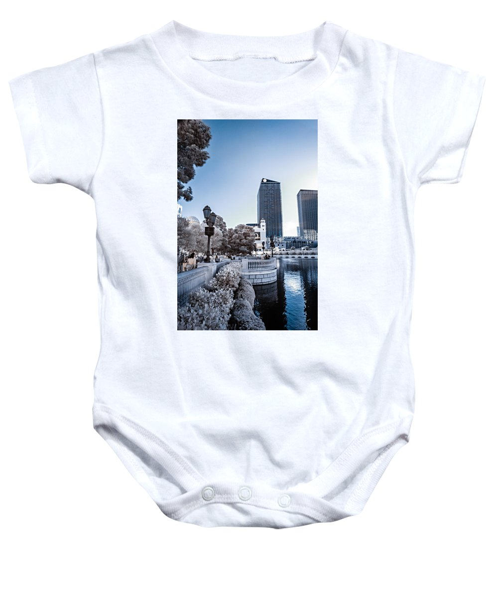 720 Nm Baby Onesie featuring the photograph The Strip In Infrared by Jason Chu