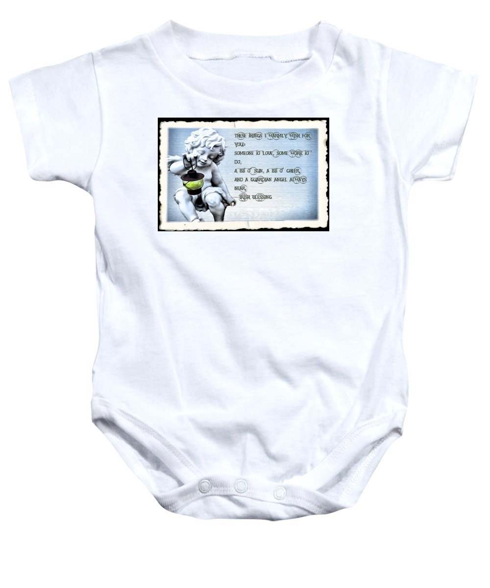 Angel Baby Onesie featuring the photograph These Things I Warmly Wish For You by Bill Cannon