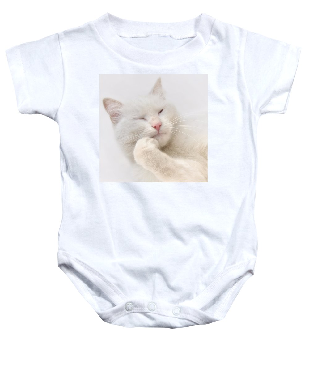 Adorable Baby Onesie featuring the photograph Think by TouTouke A Y