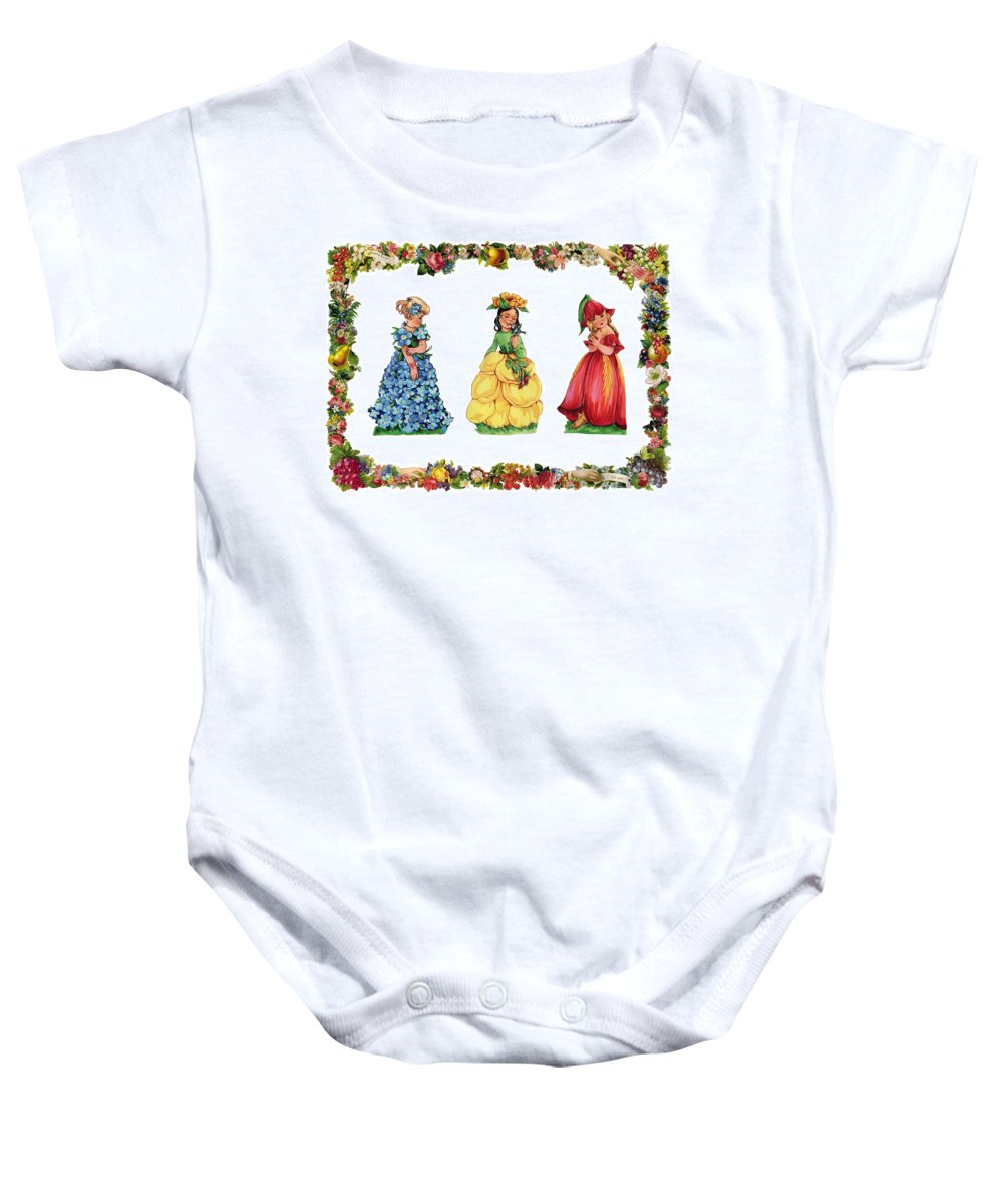 Vintage Baby Onesie featuring the photograph Three Cuties by Munir Alawi