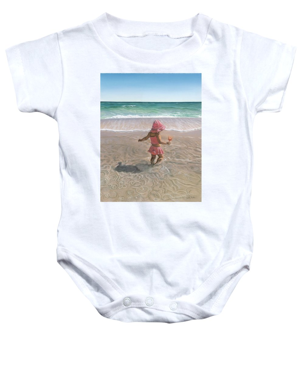Realism Baby Onesie featuring the Tide Pool by Holly Kallie