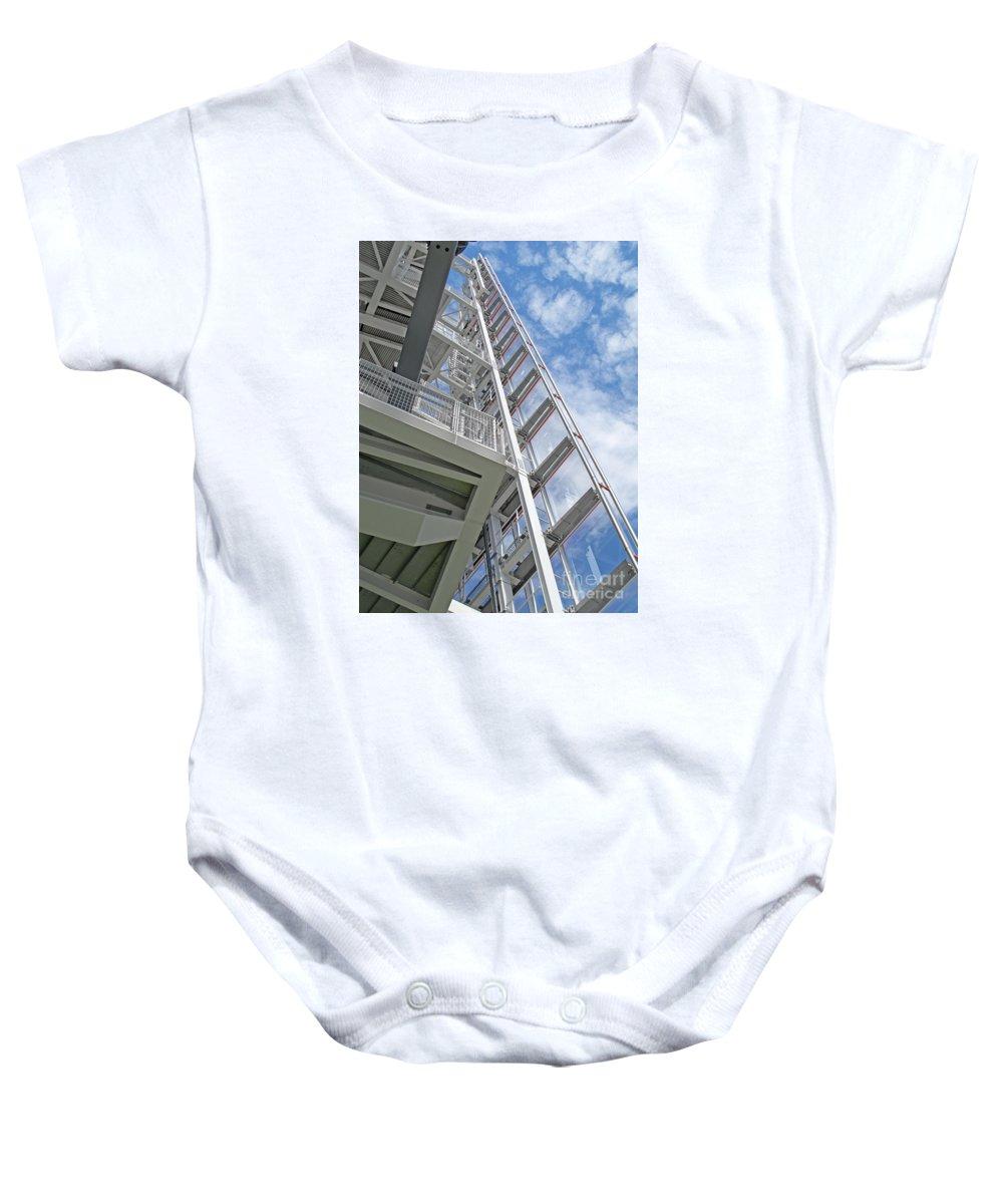 Top Of London By Ann Horn Baby Onesie featuring the photograph Top Of London by Ann Horn