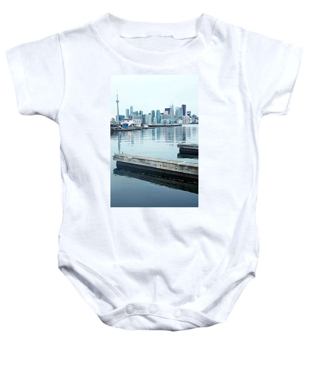 Centre Island Baby Onesie featuring the photograph Toronto by Munir Alawi
