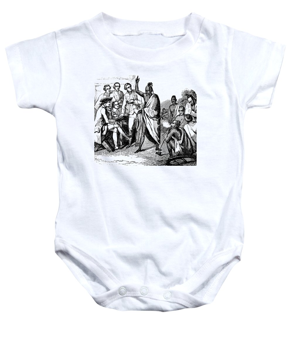 History Baby Onesie featuring the photograph Treaty With Iroquois Indians Five by British Library