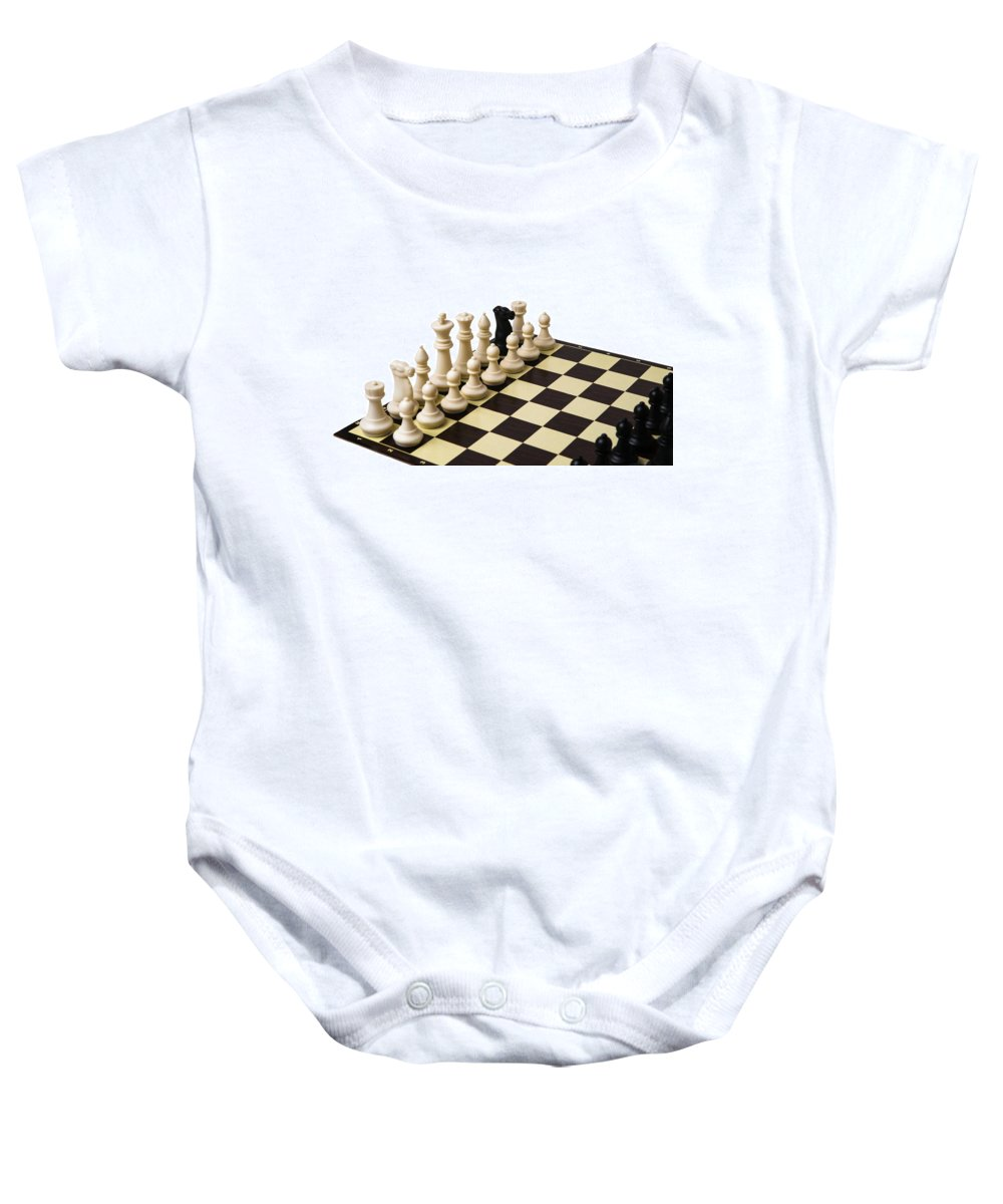 Abstract Baby Onesie featuring the photograph Trojan Horse - Featured 3 by Alexander Senin