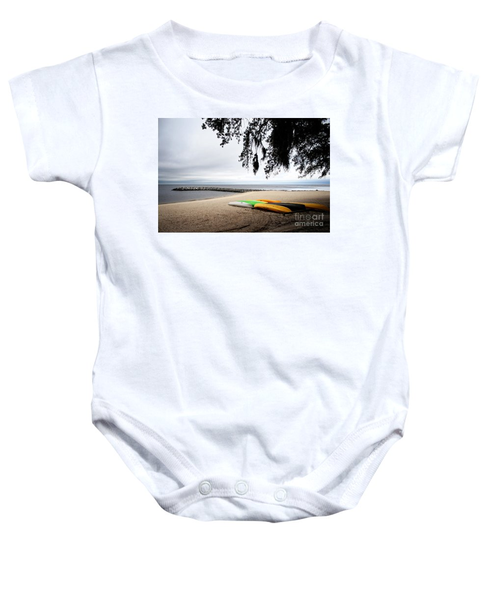 Landscape Baby Onesie featuring the photograph Tropical Watercraft by Earl Johnson