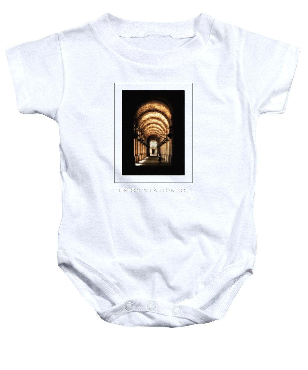 Union Station Baby Onesie featuring the photograph Union Station Dc Poster by Mike Nellums