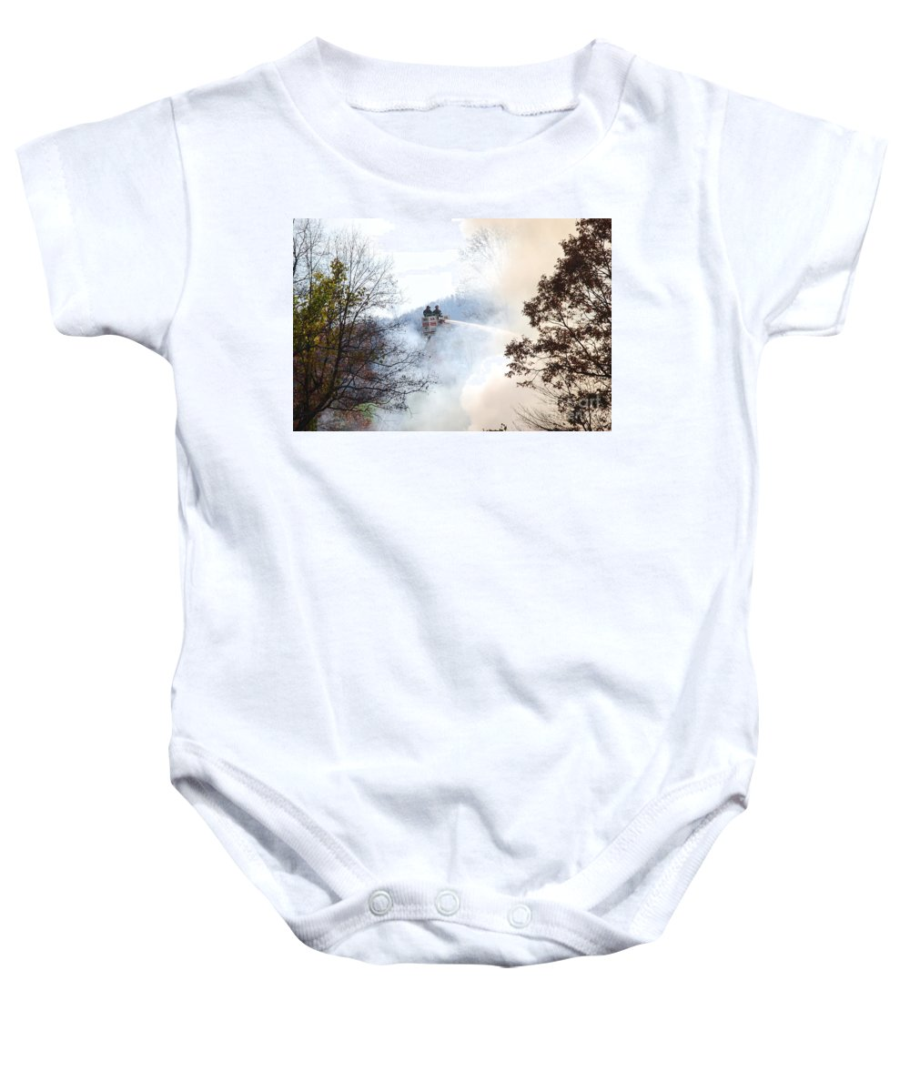 Fire Baby Onesie featuring the photograph Up In Smoke by Eric Liller