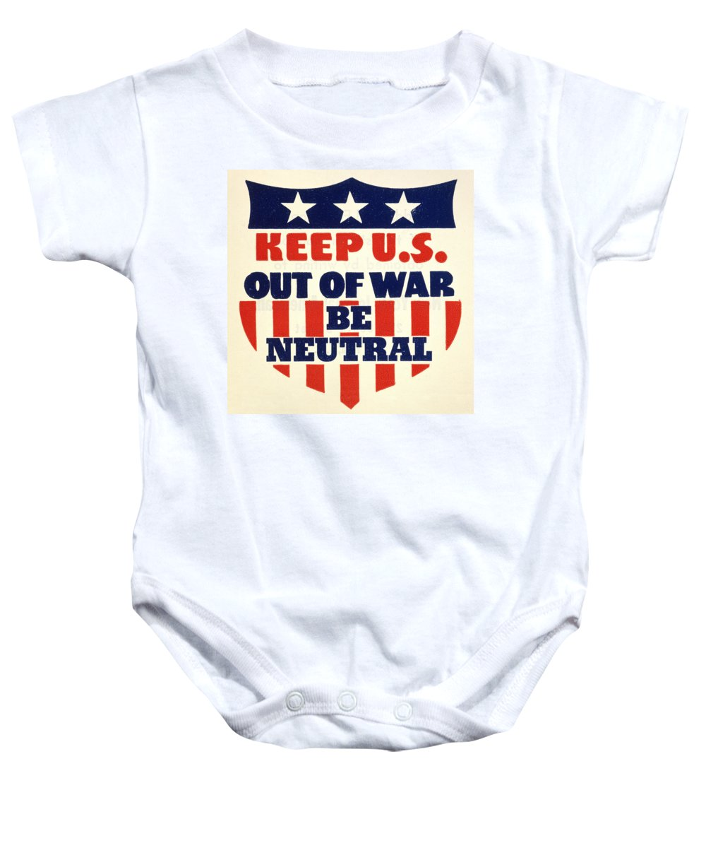 1940 Baby Onesie featuring the photograph U.s. Isolationism, 1940s by Granger