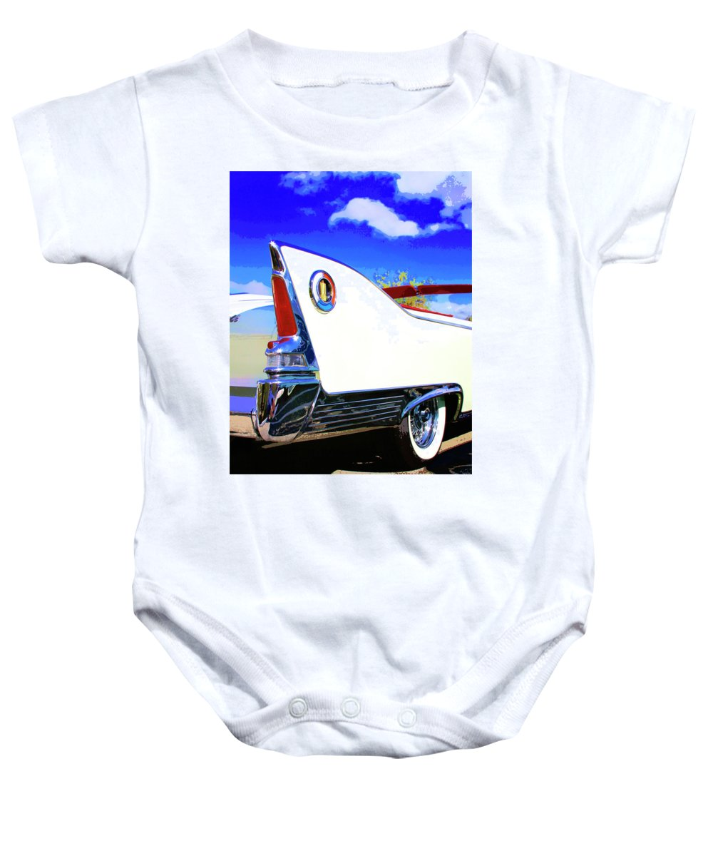 Car Auction Baby Onesie featuring the photograph Vehicle Launch Palm Springs by William Dey