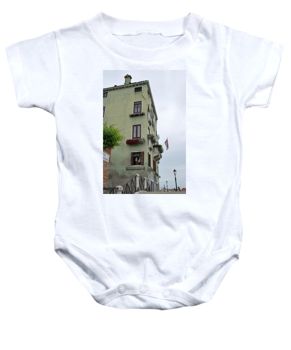 Building Baby Onesie featuring the photograph Venice Building by Richard Booth