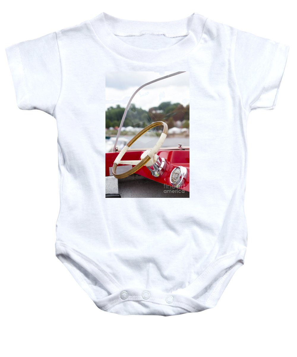 Baby Onesie featuring the photograph Vermont Boat Docked by Sara Schroeder