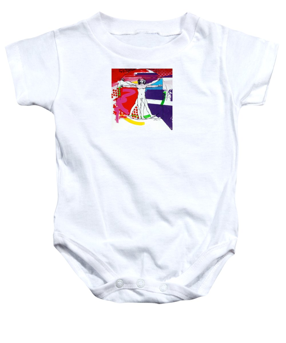 Classic Baby Onesie featuring the painting Vetruvian by Jean Pierre Rousselet