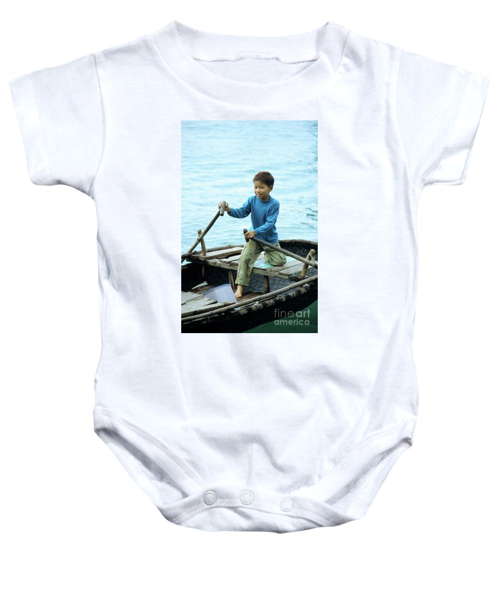 Vietnam Baby Onesie featuring the photograph Vietnamese Boy by Rick Piper Photography