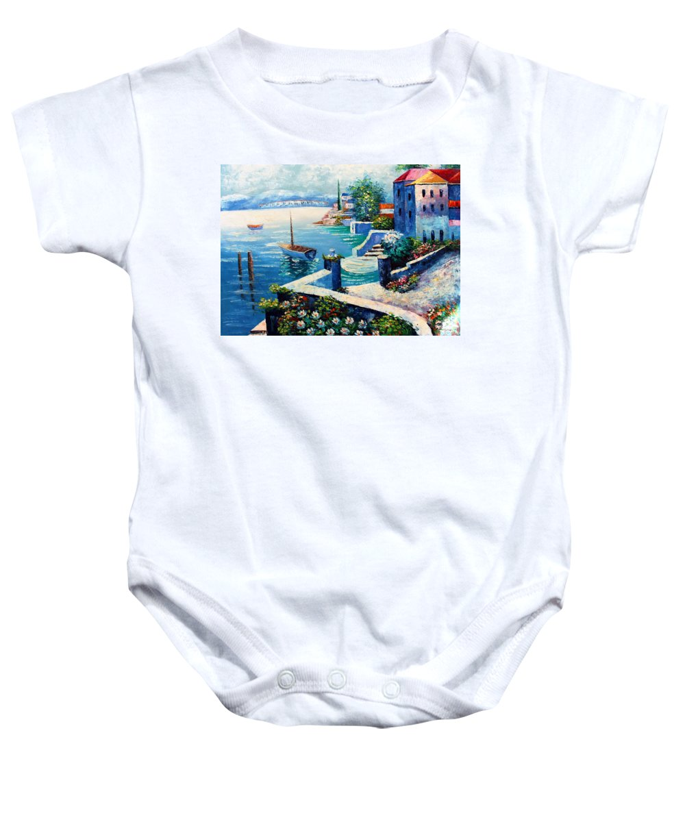 Vintage Baby Onesie featuring the photograph Vintage Art by Munir Alawi