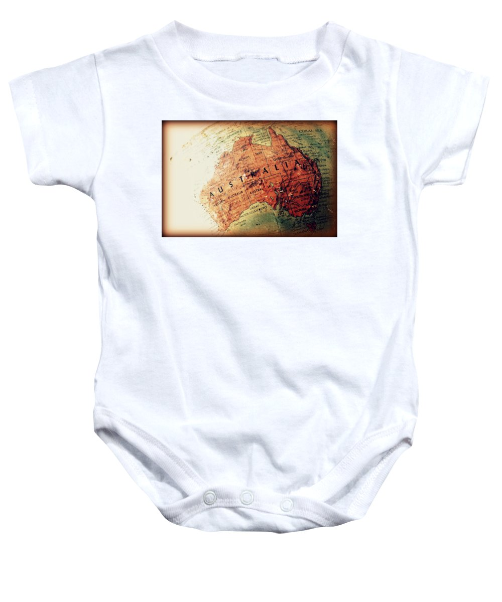 Vintage Baby Onesie featuring the photograph Vintage Australia by Faith Williams