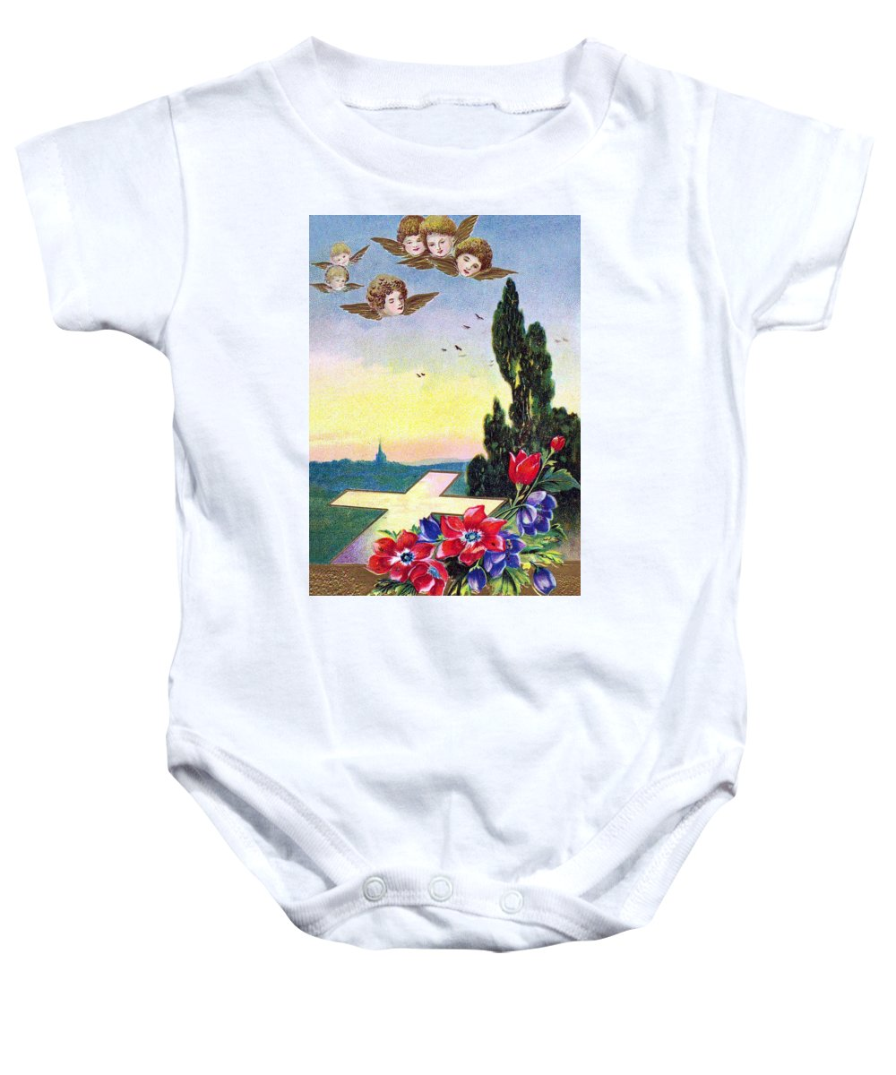 Vintage Baby Onesie featuring the photograph Vintage Easter Card by Munir Alawi