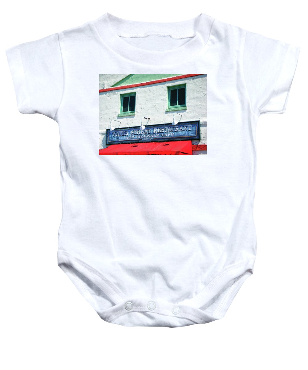 Water Street Baby Onesie featuring the photograph Water Street 0772 by Guy Whiteley