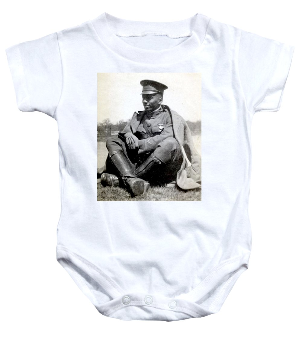 Aviation Baby Onesie featuring the photograph William J. Powell, American Aviator by Science Source
