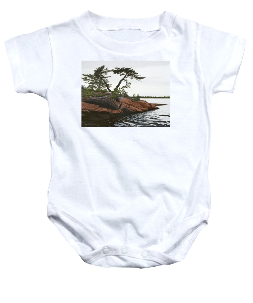 Landscape Paintings Baby Onesie featuring the painting Windswept by Kenneth M Kirsch