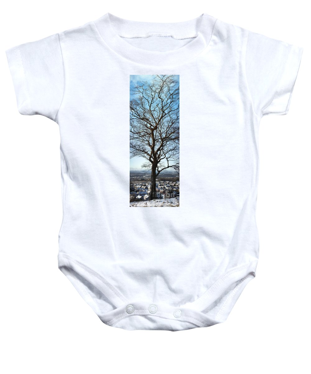 Clydebank Baby Onesie featuring the photograph Winter Tree by Antony McAulay