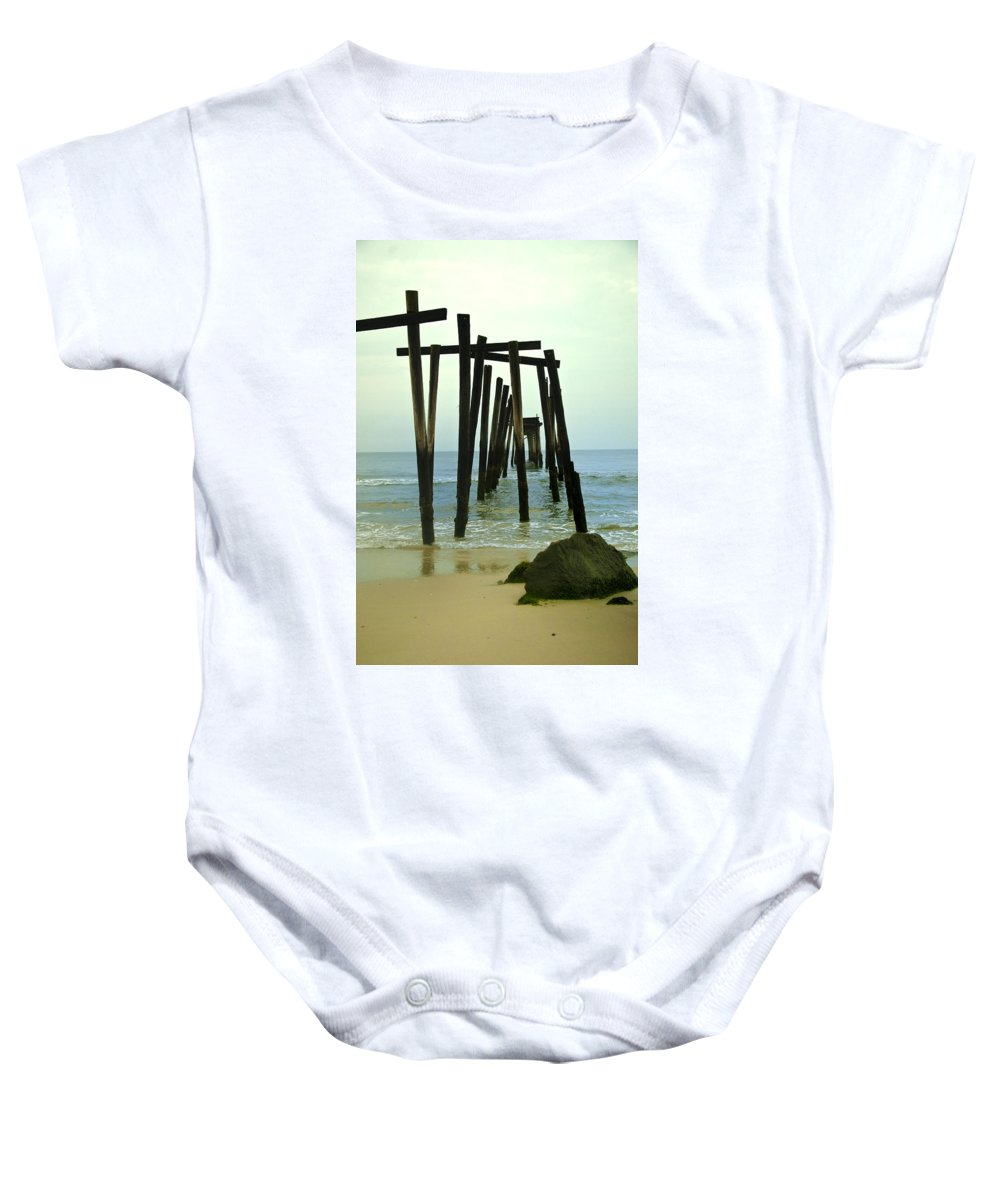 Without Baby Onesie featuring the photograph Without Pier by Bill Cannon