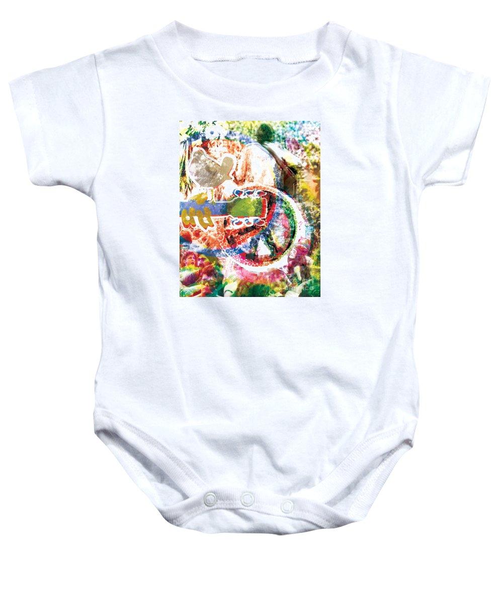 Hippie Baby Onesie featuring the painting Woodstock Original Painting Print by Ryan Rock Artist