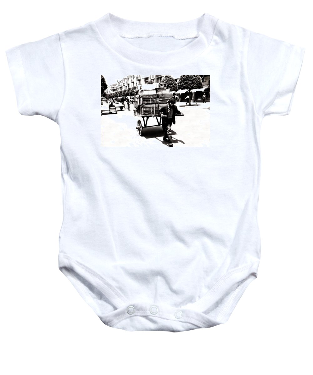 Man Baby Onesie featuring the photograph Working by Image Takers Photography LLC