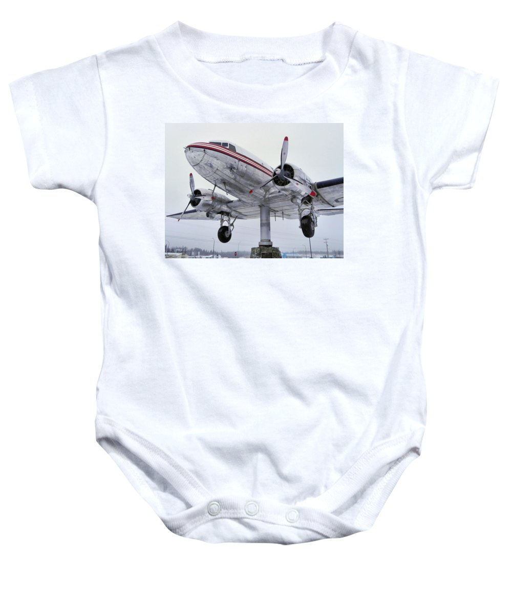Bush Plane Baby Onesie featuring the photograph World's Largest Weather Vane by Cheryl Hoyle