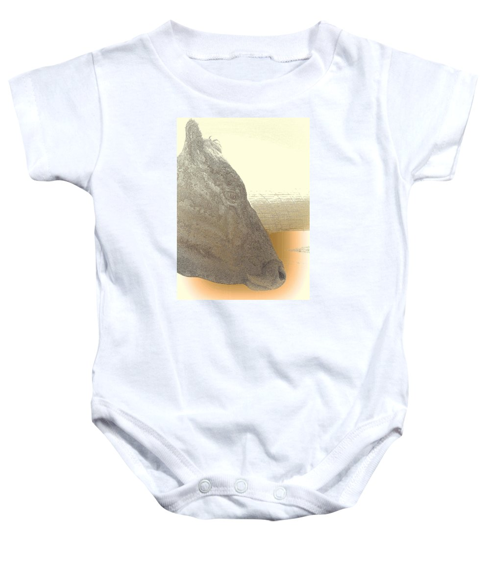Face Baby Onesie featuring the photograph You May Feel Lonely, But You Are Not Alone by Hilde Widerberg