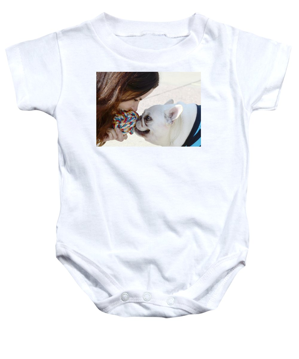 Animals Baby Onesie featuring the photograph Yummmm by Lisa Phillips