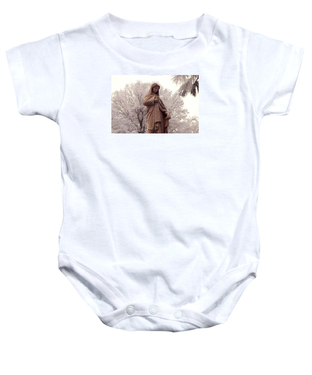 Near Baby Onesie featuring the photograph Ziba King Memorial Statue Front View Florida Usa Near Infrared Se by Sally Rockefeller