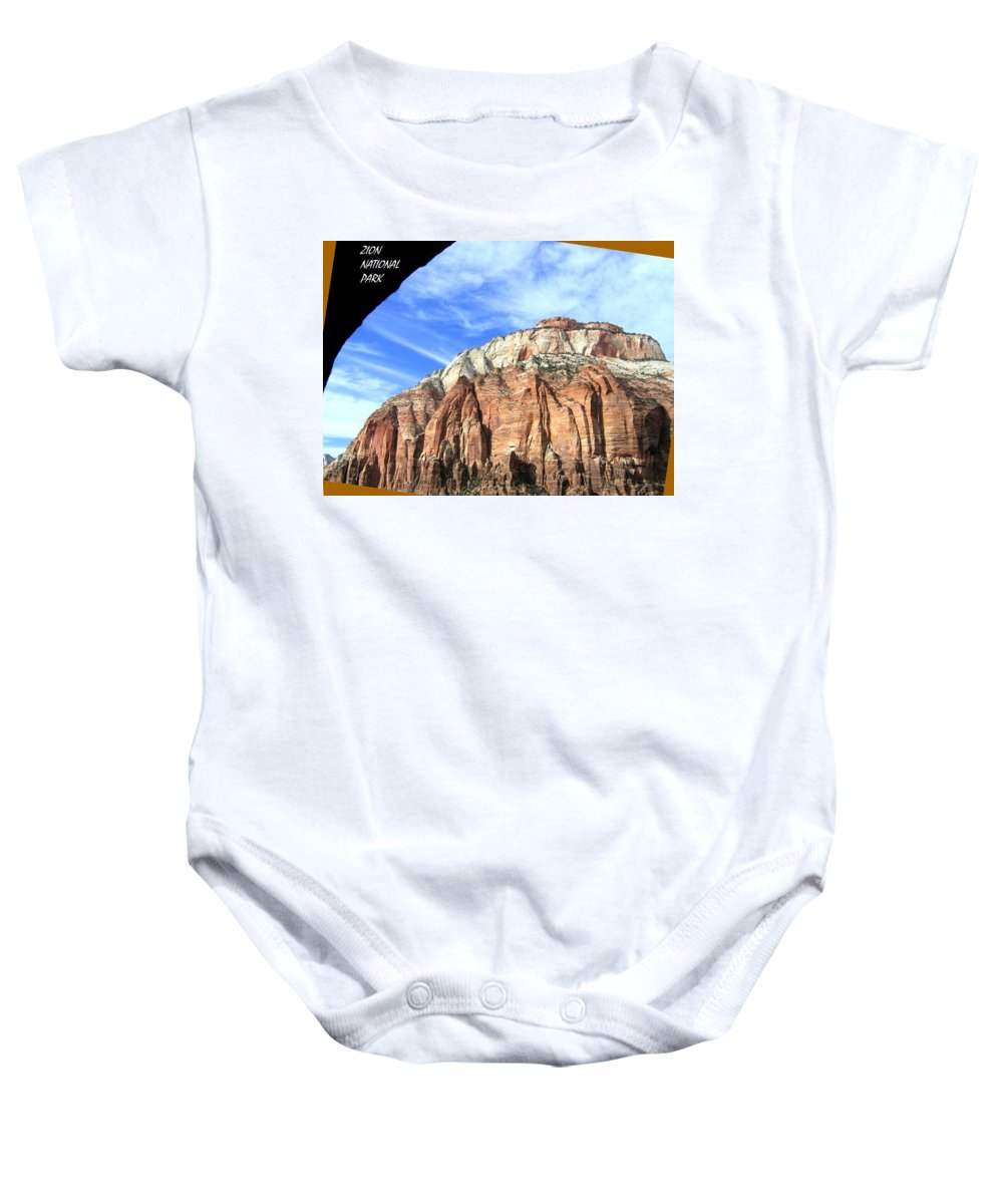 Zion National Park Baby Onesie featuring the photograph Zion National Park  by Will Borden