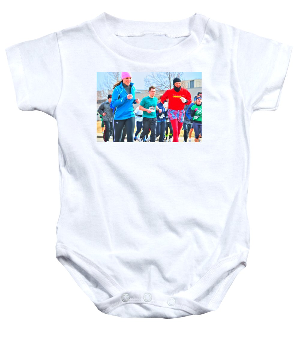 Baby Onesie featuring the photograph 034 Shamrock Run Series by Michael Frank Jr