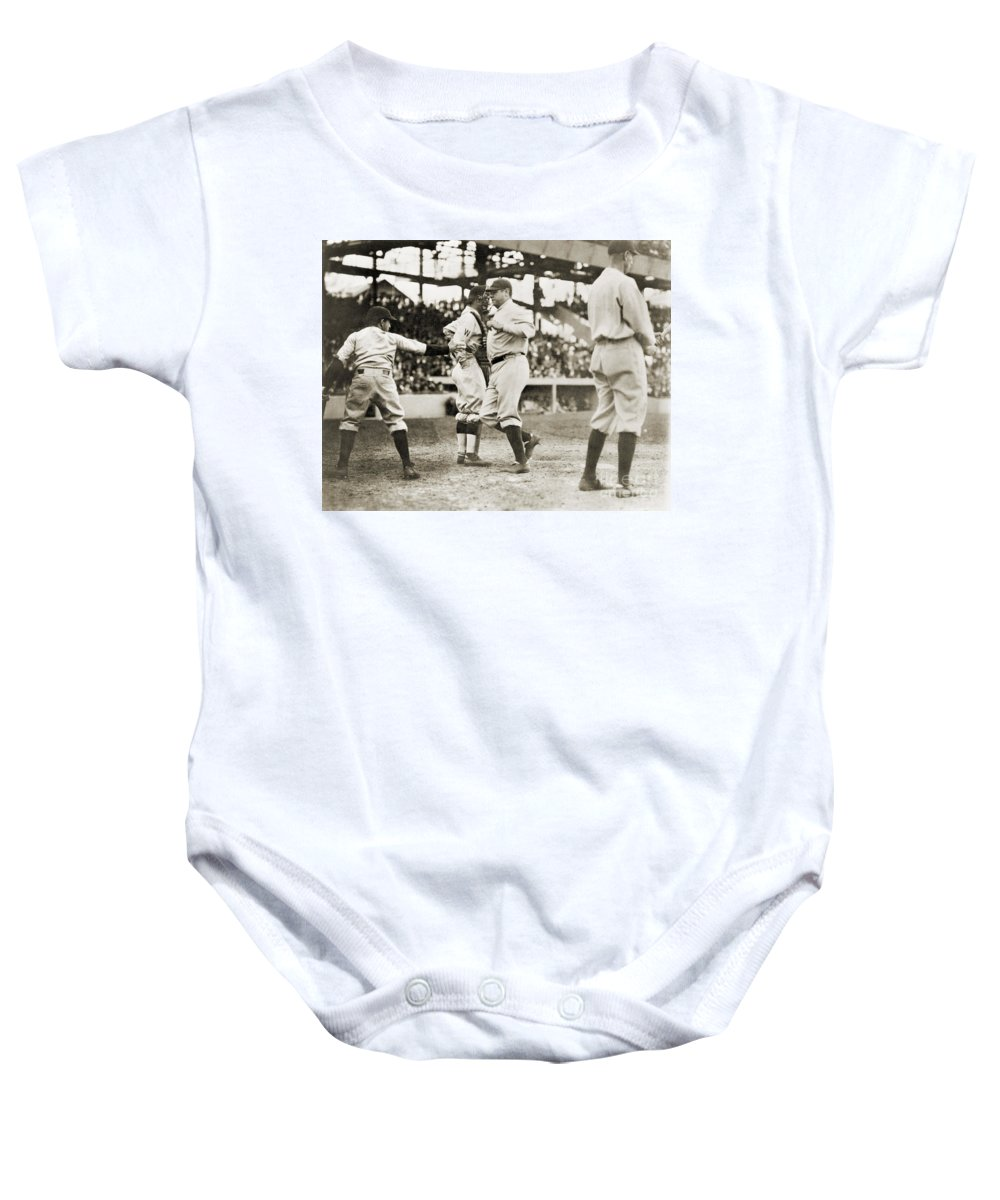 1924 Baby Onesie featuring the photograph Babe Ruth (1895-1948) by Granger