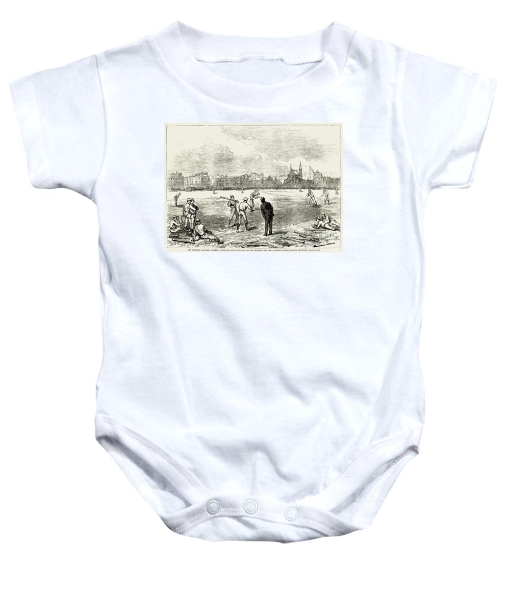 1874 Baby Onesie featuring the photograph Baseball: England, 1874 by Granger