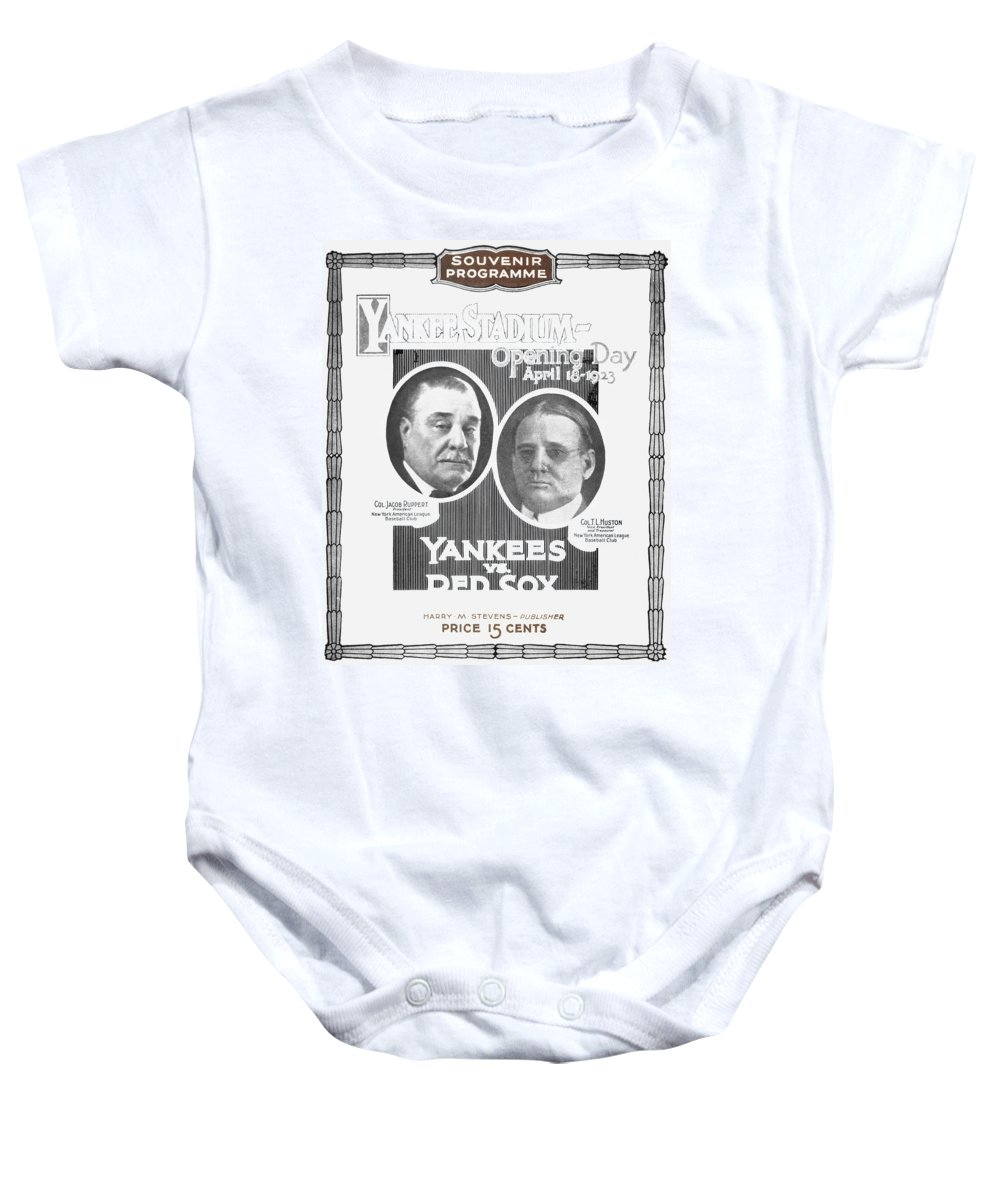 1923 Baby Onesie featuring the photograph Baseball Program, 1923 by Granger