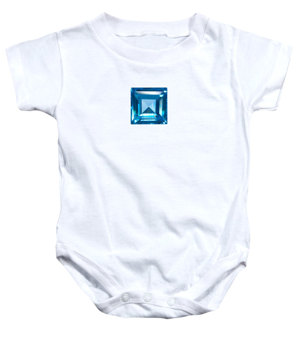 Allure Baby Onesie featuring the jewelry Blue Sapphire Isolated by Atiketta Sangasaeng
