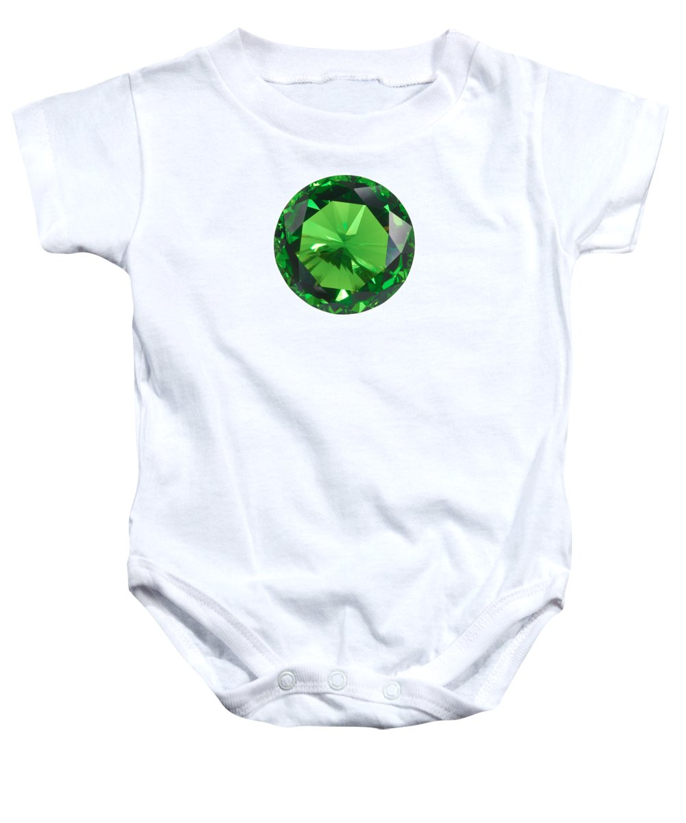Allure Baby Onesie featuring the jewelry Emerald Isolated by Atiketta Sangasaeng