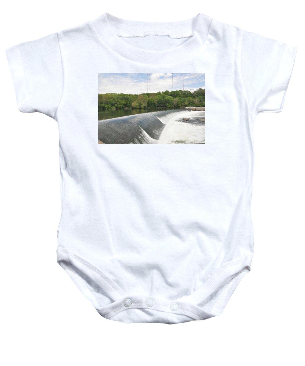Flatrock Dam Baby Onesie featuring the photograph Flatrock Dam by Bill Cannon