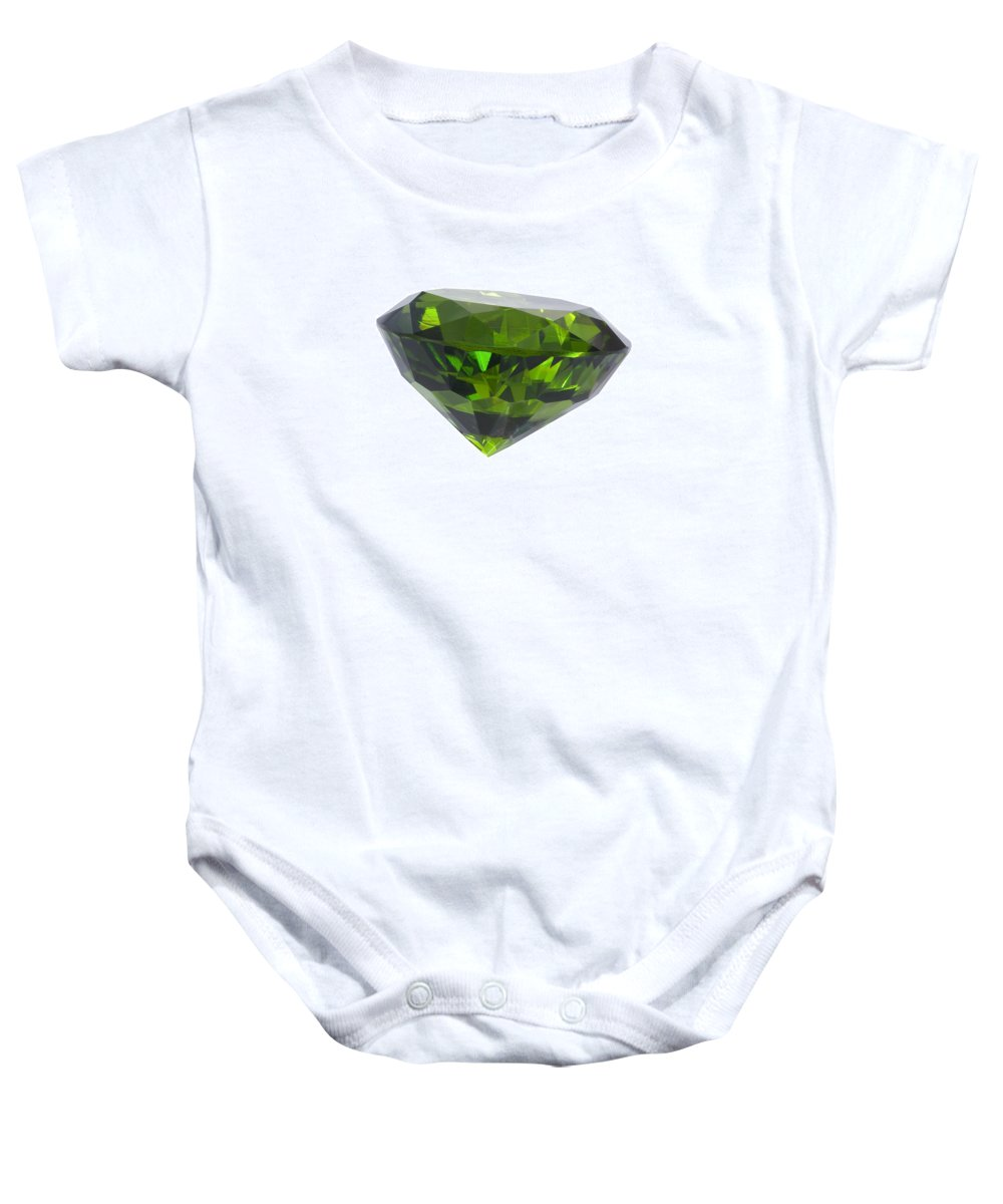Allure Baby Onesie featuring the jewelry Great Emerald Isolated by Atiketta Sangasaeng