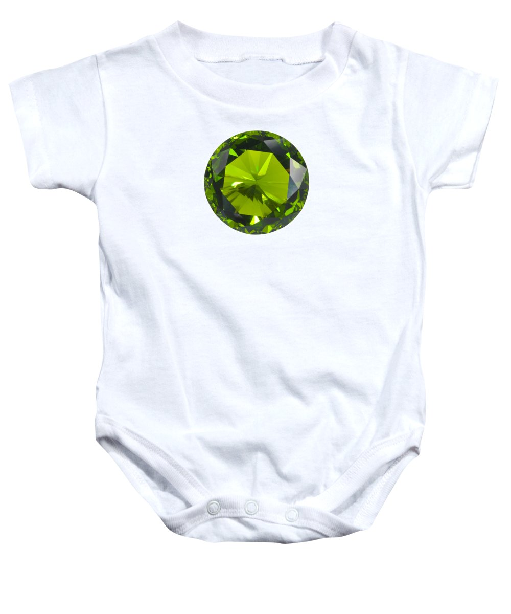 Allure Baby Onesie featuring the jewelry Green Gem Isolated by Atiketta Sangasaeng