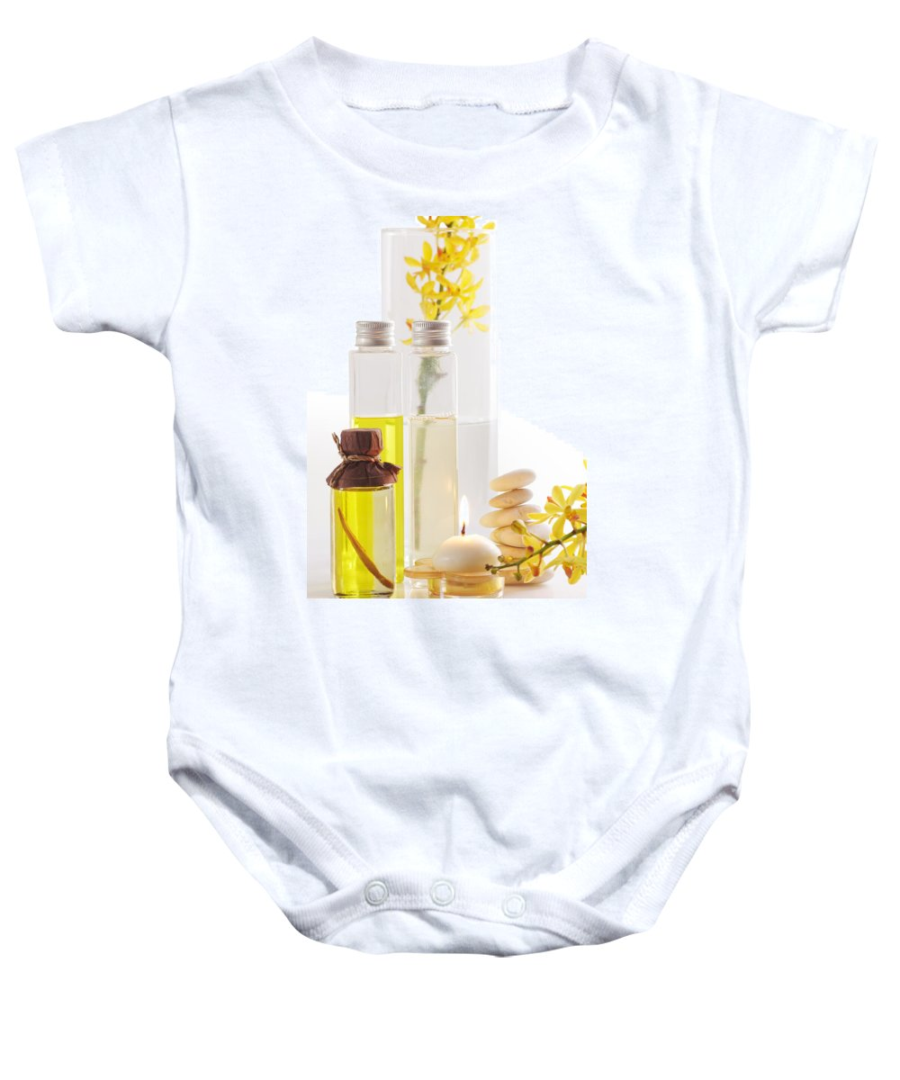 Spa-treatment Baby Onesie featuring the photograph Health Spa Concepts by Atiketta Sangasaeng