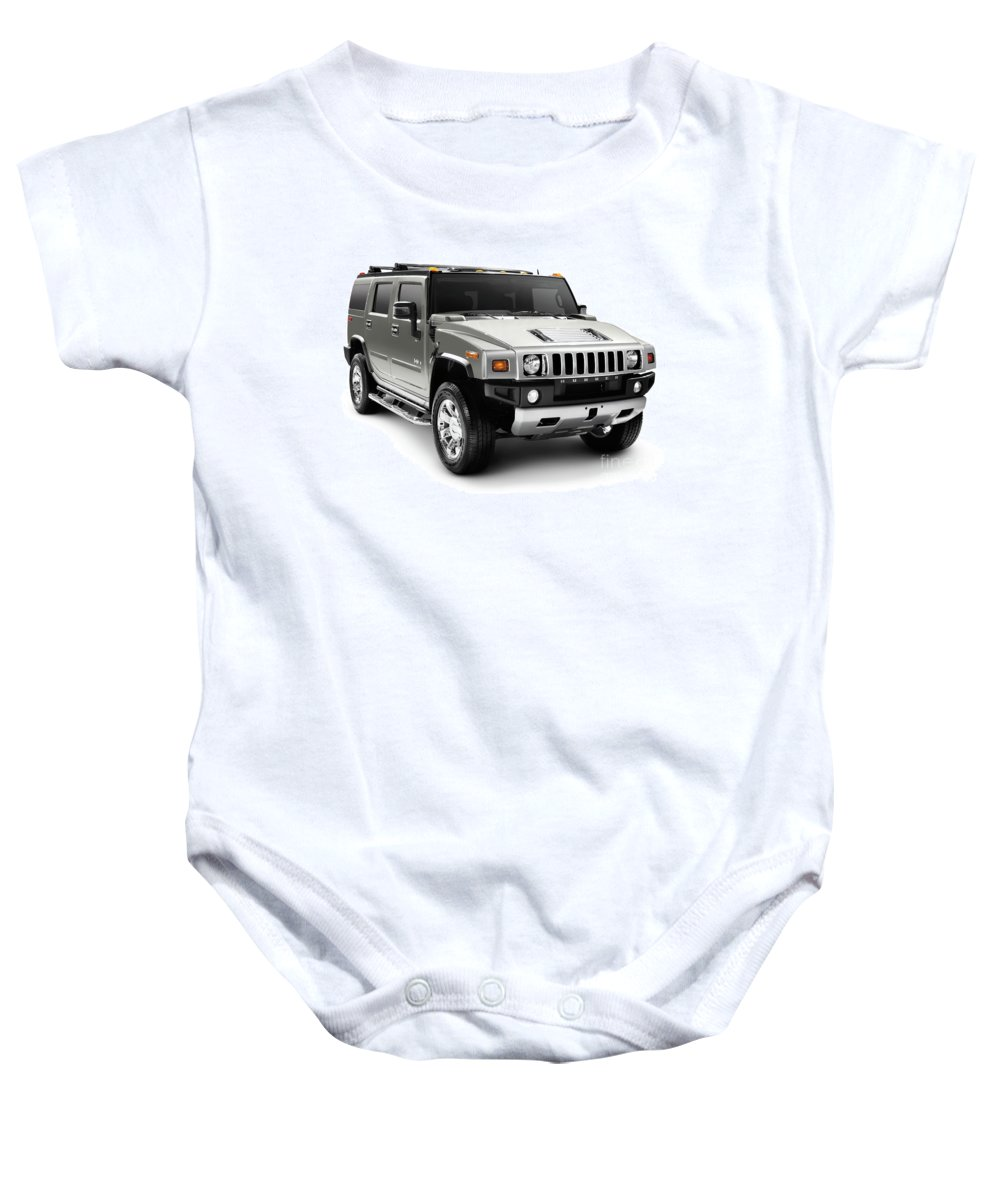 Hummer Baby Onesie featuring the photograph Hummer H2 by Oleksiy Maksymenko