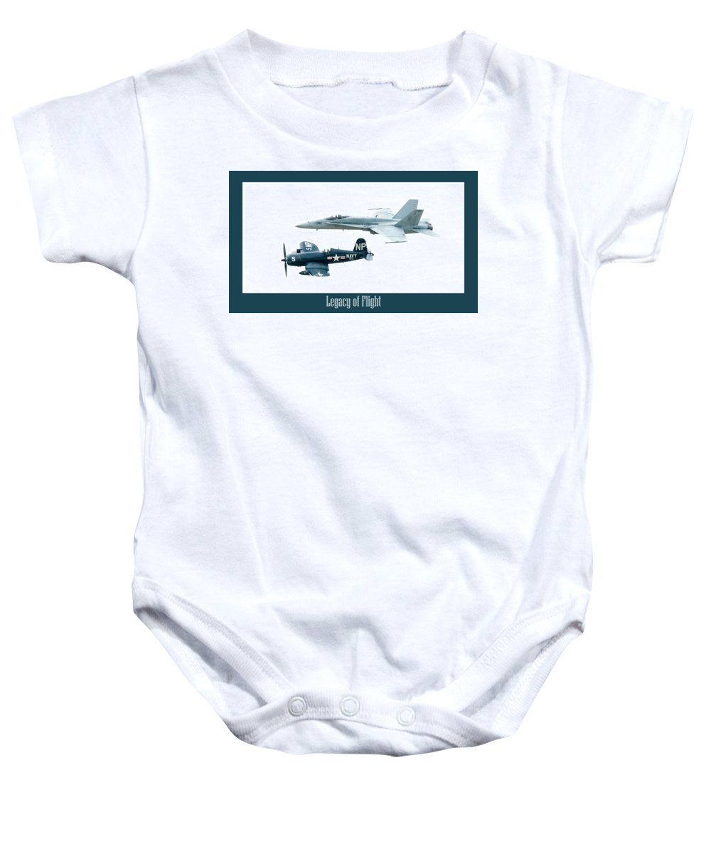 Airshow Baby Onesie featuring the photograph Legacy Of Flight by Greg Fortier