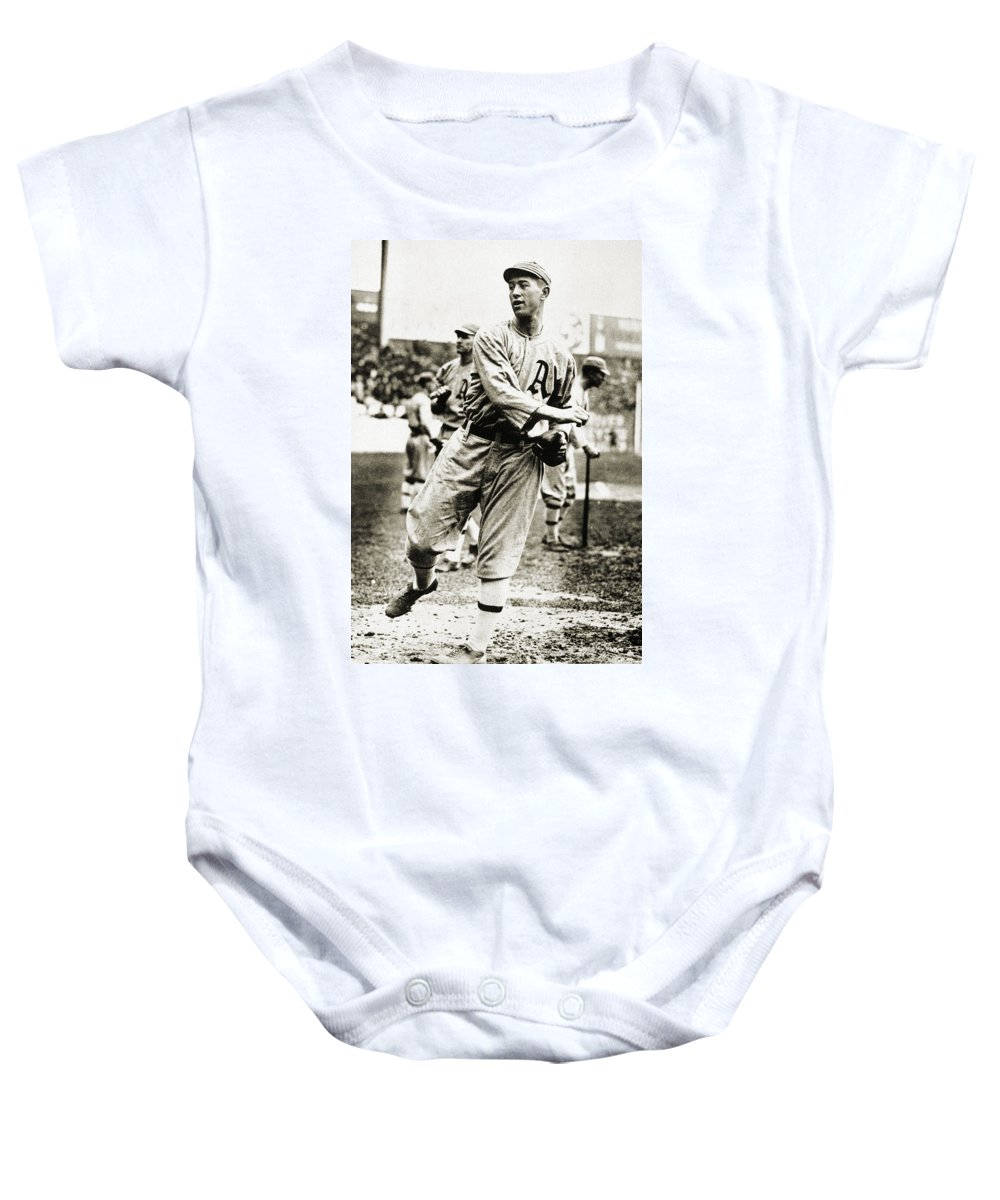 1910s Baby Onesie featuring the photograph Leslie Bush (1892-1974) by Granger