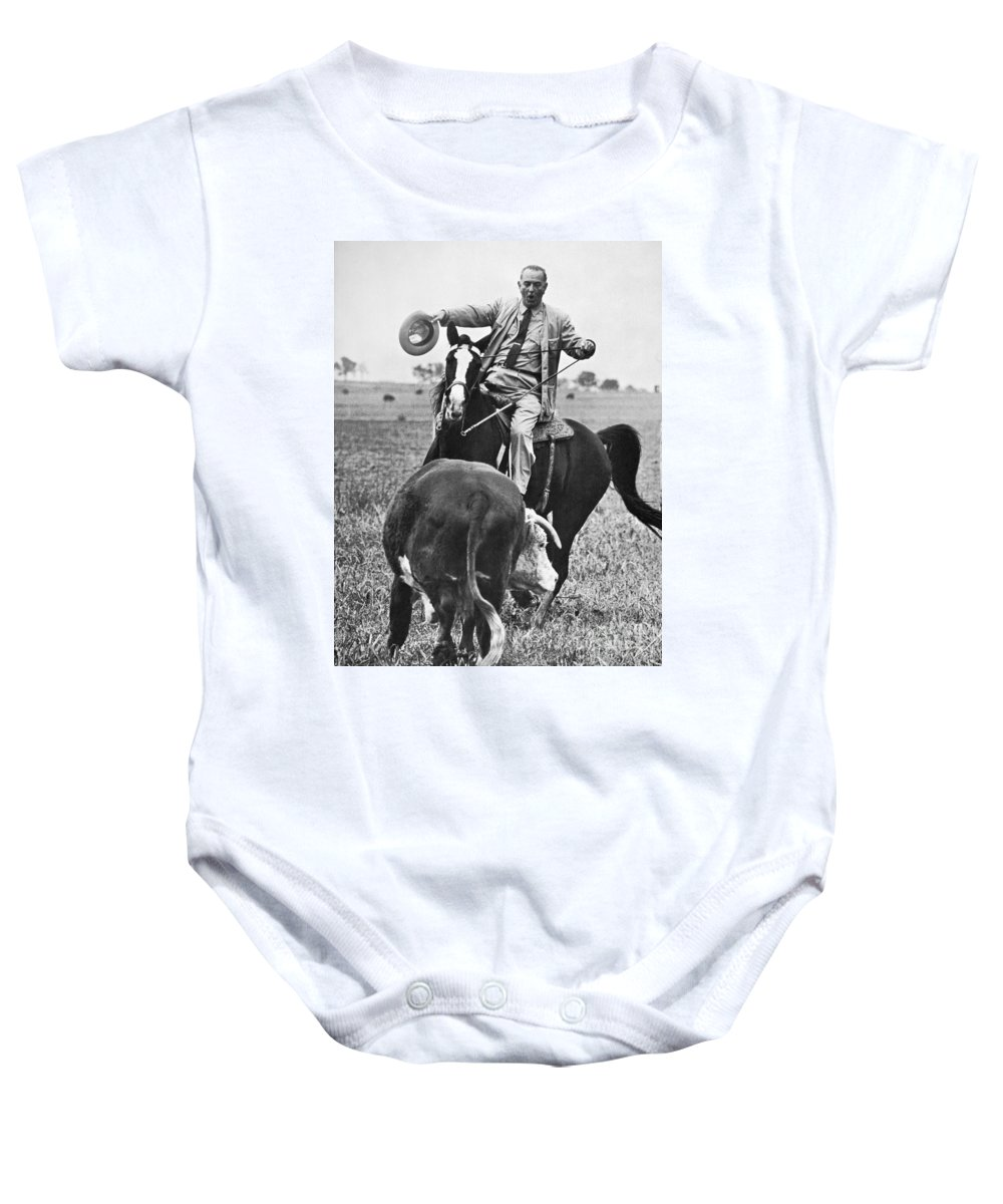 1964 Baby Onesie featuring the photograph Lyndon Baines Johnson by Granger